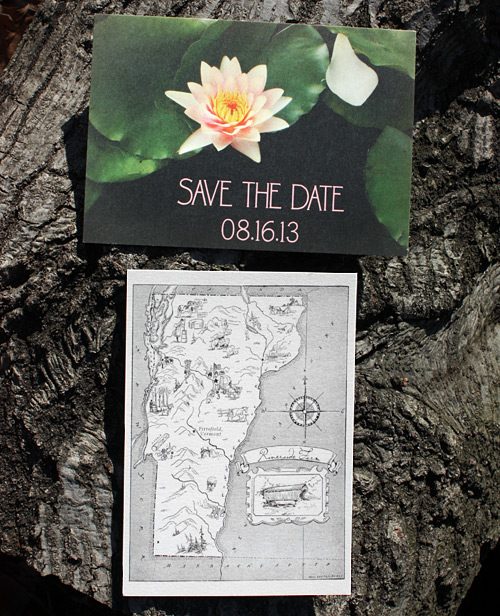 Two save the date postcards