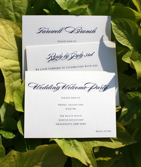 Jesse and Stu: engraved wedding invitation suite