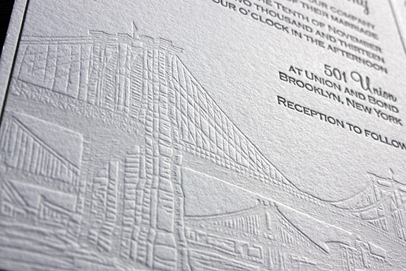 Rebecca and Jonathan: Seaport, letterpress printed with black and nickel inks, featuring RSVP postcard with map envelope liner for invitation.