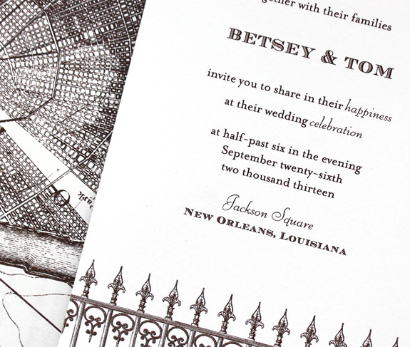 St. Charles Avenue: Wedding invitation from PostScript Brooklyn