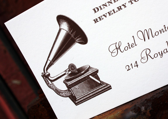 St. Charles Avenue: reception card