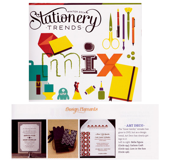 Stationery Trends, winter 2014, featuring PostScript Brooklyn suite Bryant Park