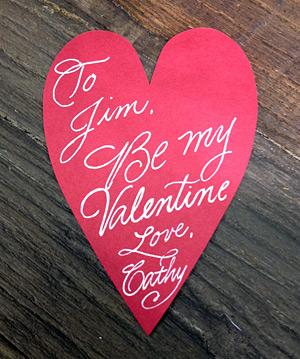 Valentines Calligraphy