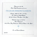 Charles: communion invitation printed in thermography with beaded border