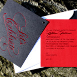 Kathleen: festive birthday party with red foil and grommeted layer