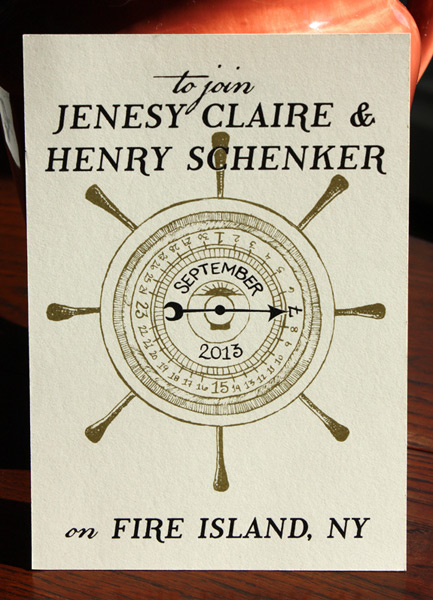 Jenesy and Henry: nautical themed save the dates that tie in with their incredible invitations