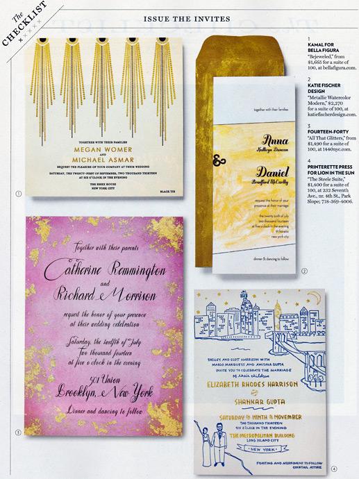 NY Magazine Weddings, Summer 2014