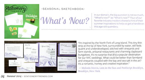 Stationery Trends: Summer 2014 issue, Seasonal Sketchbook