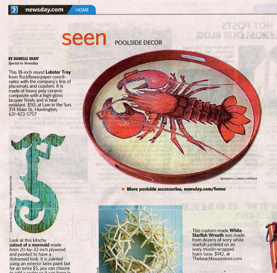 Lion in the Sun of Long Island featured in Newsday, July 25, 2014