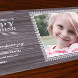 DesRochers: digitally printed photo holiday card