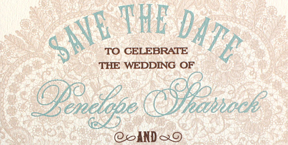 Penelope and Joe: Sutton Place {custom}, Save the Date