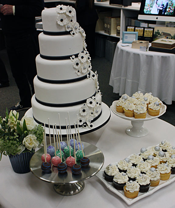 Baked goodies courtesy of Rhapsody Cakes