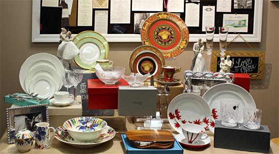 Dinnerware and decor from Park Avenue Gifts