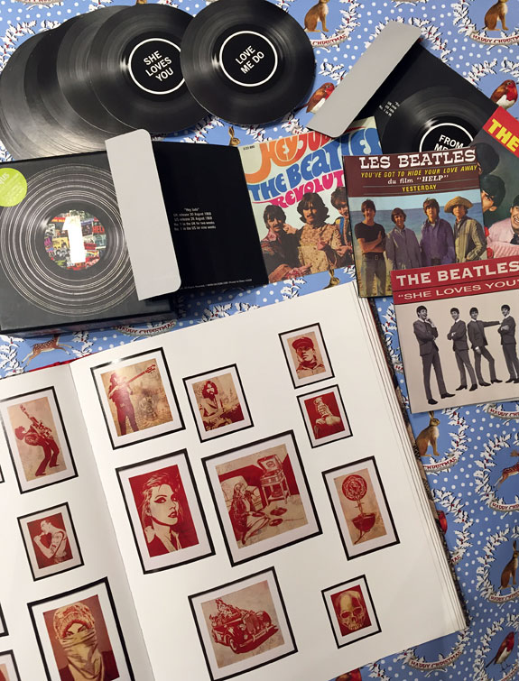 Beatles notecards and Shepard Fairey book