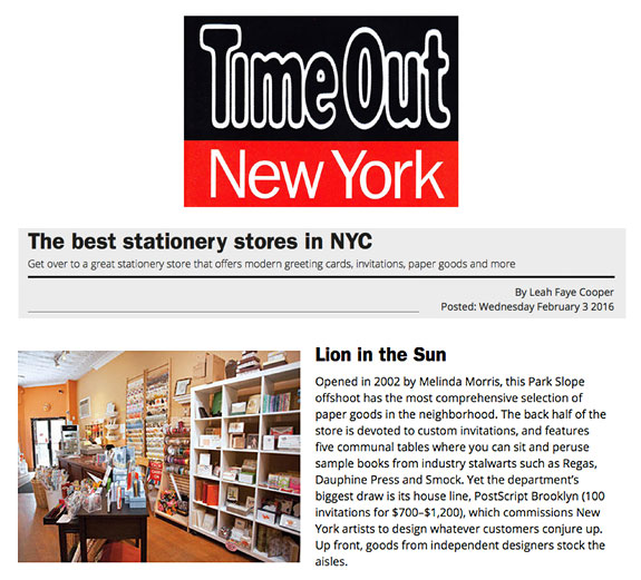 Time Out New York Best Stationery Stores in New York City