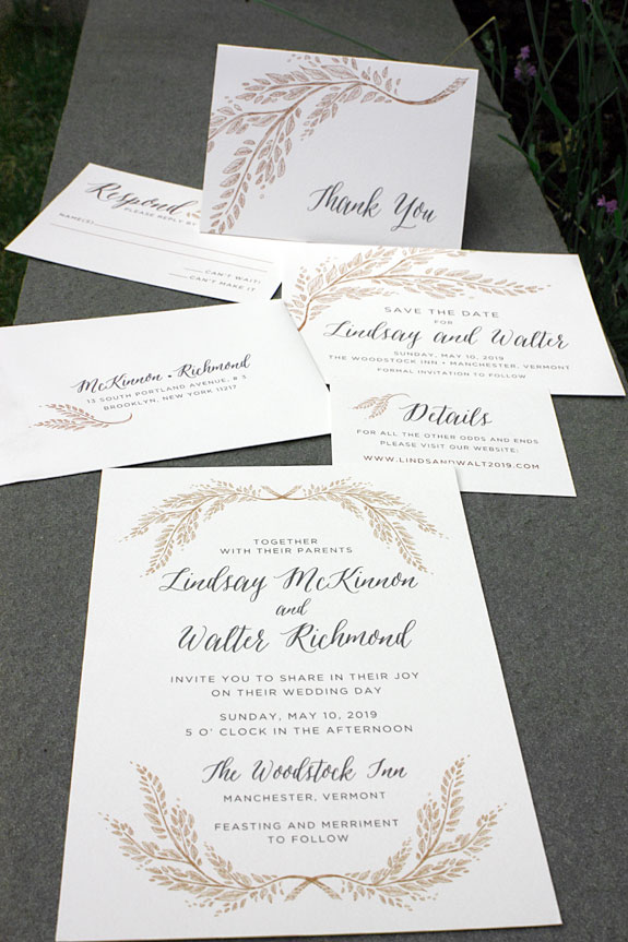 Laurel Court: wedding invitation from PostScript Brooklyn