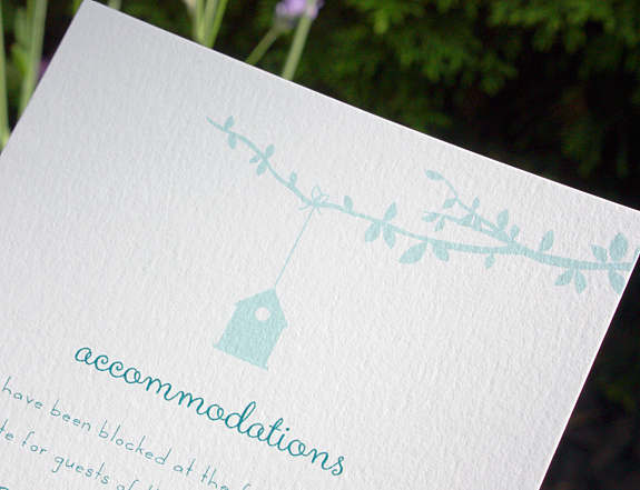 Gramercy Park-floral wedding invitation from PostScript Brooklyn