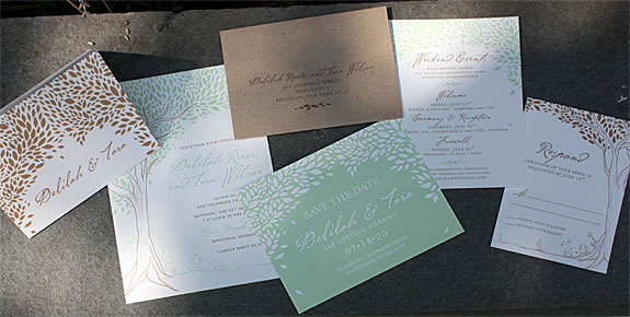 Idlewild a floral themed invitation from PostScript Brooklyn