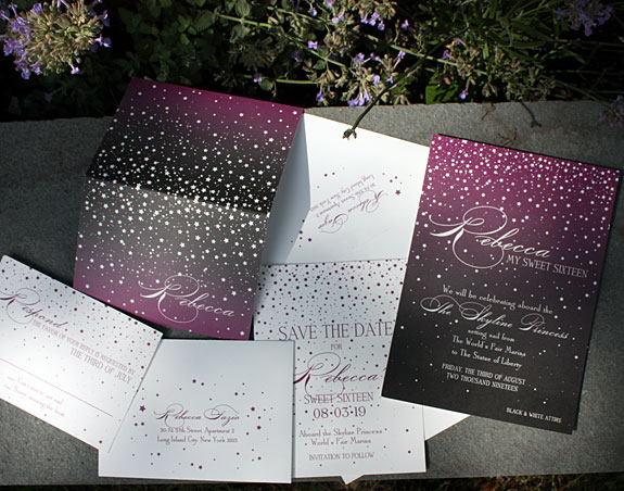 Starry Night-festive invitation from PostScript Brooklyn
