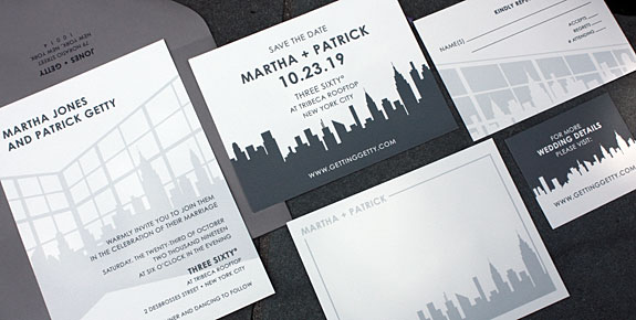 Studio 360, a NYC themed invitation from PostScript Brooklyn