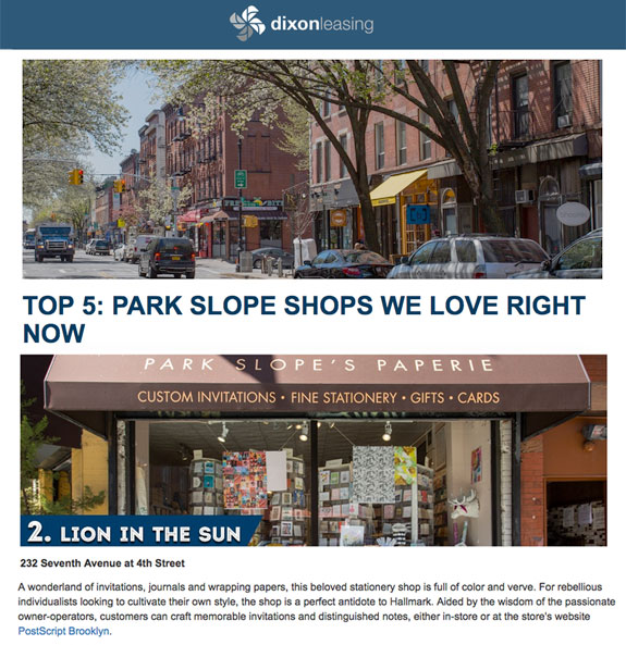 Dixon Leasing Top 5 Park Slope Shops We Love Right Now