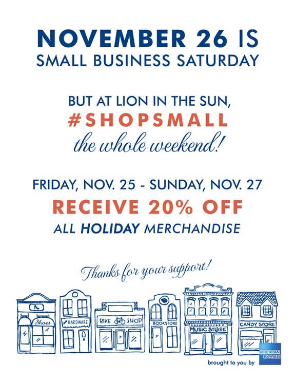 small business saturday sale