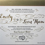 Emily and Leon - from custom illustrated save the date to gold foil and fuchsia in the invitation suite, this Four Seasons wedding stationery served the event beautifully. This wedding featured and on Style Me Pretty and ModWedding.