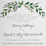 Mary and David - A floral motif and other charming illustrations grace this sweet wedding invitation