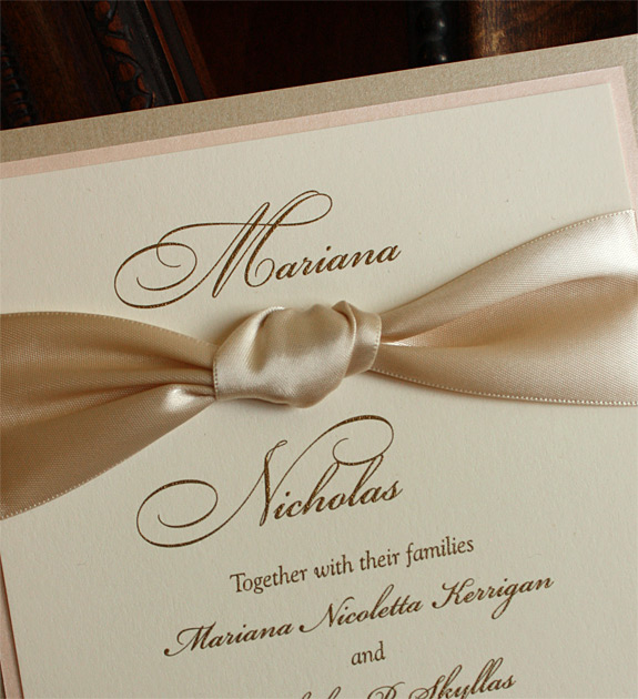 Thermography Invitation for luxury invitations sample